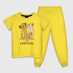 Пижама хлопковая детская Simba & Nala цвета желтый — фото 1