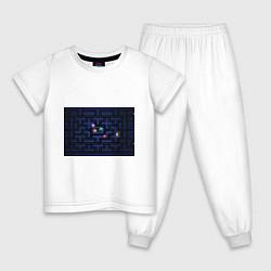 Пижама хлопковая детская Pacman цвета белый — фото 1