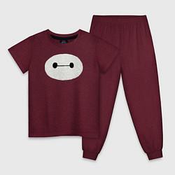 Пижама хлопковая детская Baymax цвета меланж-бордовый — фото 1