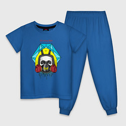 Пижама хлопковая детская Breaking Bad цвета синий — фото 1