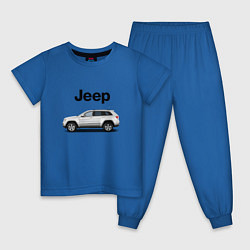 Пижама хлопковая детская Jeep цвета синий — фото 1