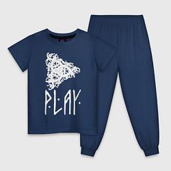 Пижама хлопковая детская Рингерике Play цвета тёмно-синий — фото 1