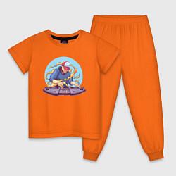 Пижама хлопковая детская ДИДЖЕЙ DJ Z цвета оранжевый — фото 1