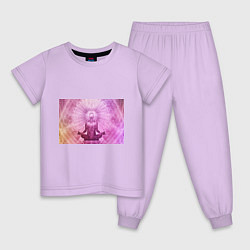 Пижама хлопковая детская Mind цвета лаванда — фото 1