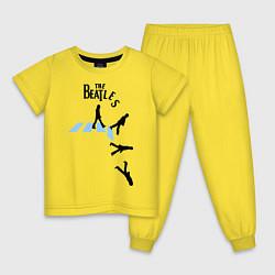 Пижама хлопковая детская The Beatles: break down цвета желтый — фото 1