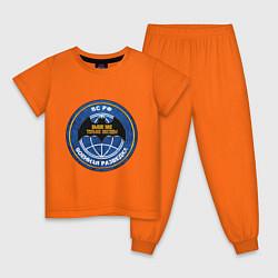 Пижама хлопковая детская ВС РФ: Военная разведка цвета оранжевый — фото 1