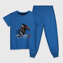 Пижама хлопковая детская The Witcher 3 цвета синий — фото 1
