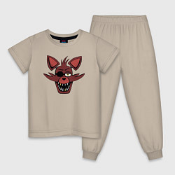 Пижама хлопковая детская Foxy FNAF цвета миндальный — фото 1