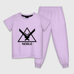 Пижама хлопковая детская Noble Halo цвета лаванда — фото 1