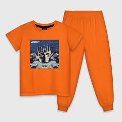Пижама хлопковая детская Chemical Brothers: The night цвета оранжевый — фото 1