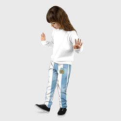 Брюки детские Сборная Аргентины: ЧМ-2018 цвета 3D — фото 2
