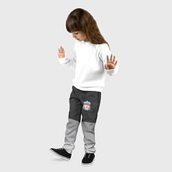 Брюки детские ФК Ливерпуль: Серый стиль цвета 3D — фото 2