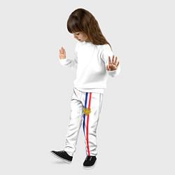 Брюки детские Франция: лента с гербом цвета 3D-принт — фото 2