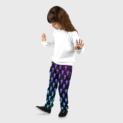 Брюки детские Billie Eilish: Neon Pattern цвета 3D — фото 2