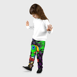 Детские 3D-штаны на резинке с принтом BRAWL STARS LEON, цвет: 3D, артикул: 10202005504927 — фото 2