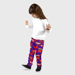 Брюки детские Губы цвета 3D — фото 2