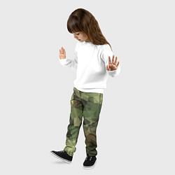 Брюки детские Полигональный камуфляж цвета 3D — фото 2