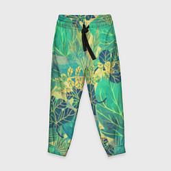 Детские брюки Узор из листьев