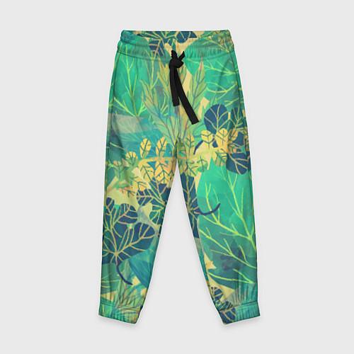 Детские брюки Узор из листьев / 3D – фото 1