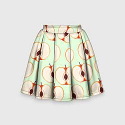 Юбка-солнце для девочки Молодильные яблочки цвета 3D-принт — фото 1
