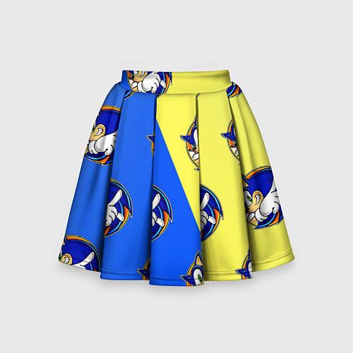 Детская юбка-солнце Sonic - Соник / 3D-принт – фото 1