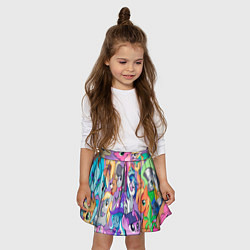 Юбка-солнце для девочки My Little Pony цвета 3D-принт — фото 2