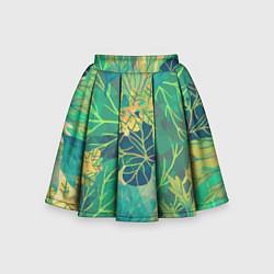Детская юбка-солнце Узор из листьев