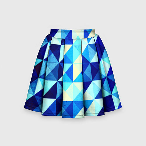 Детская юбка-солнце Синяя геометрия / 3D – фото 1