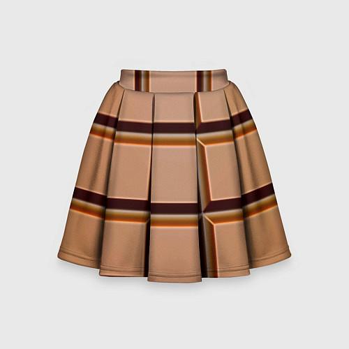Детская юбка-солнце Шоколад / 3D – фото 1