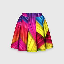 Юбка-солнце для девочки Абстракция цвета цвета 3D — фото 1
