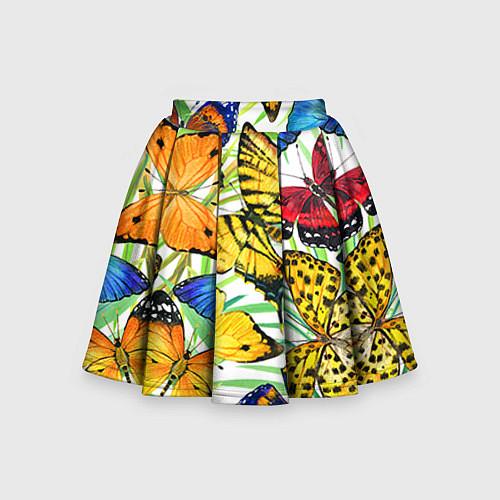 Детская юбка-солнце Тропические бабочки / 3D – фото 1