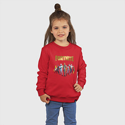 Свитшот хлопковый детский FORTNITE 2 SEASON Часть 2 цвета красный — фото 2
