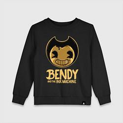 Свитшот хлопковый детский Bendy And The Ink Machine цвета черный — фото 1