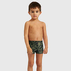 Плавки для мальчика Stone Island: Green Camo цвета 3D — фото 2