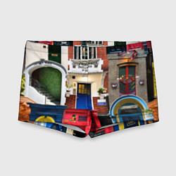 Плавки для мальчика London doors цифровой коллаж цвета 3D — фото 1