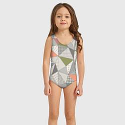 Купальник для девочки Геометрия цвета 3D — фото 2