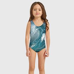 Купальник для девочки Волна цвета 3D — фото 2