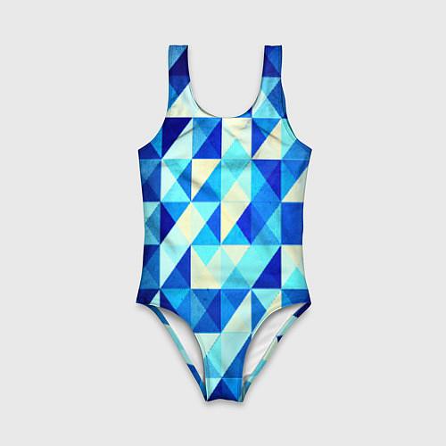 Детский купальник Синяя геометрия / 3D-принт – фото 1