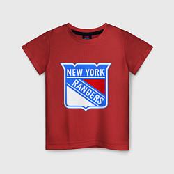 Футболка хлопковая детская New York Rangers цвета красный — фото 1