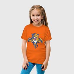 Футболка хлопковая детская Florida Panthers цвета оранжевый — фото 2