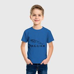 Футболка хлопковая детская Jaguar цвета синий — фото 2