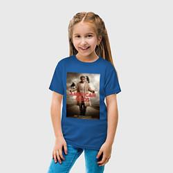 Футболка хлопковая детская American Gods: Mr. Wednesday цвета синий — фото 2