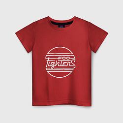 Футболка хлопковая детская Foo Fighters: Retro style цвета красный — фото 1