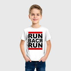 Футболка хлопковая детская Run Вася Run цвета белый — фото 2