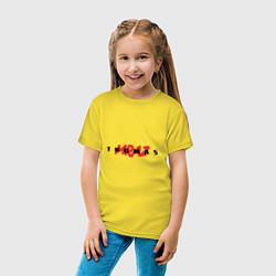 Футболка хлопковая детская Thomas Mraz цвета желтый — фото 2