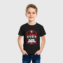 Футболка хлопковая детская Black Sabbath Collective цвета черный — фото 2