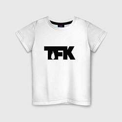 Футболка хлопковая детская TFK: Black Logo цвета белый — фото 1