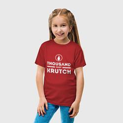 Футболка хлопковая детская Thousand Foot Krutch цвета красный — фото 2