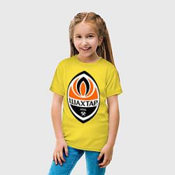 Футболка хлопковая детская ФК Шахтёр цвета желтый — фото 2