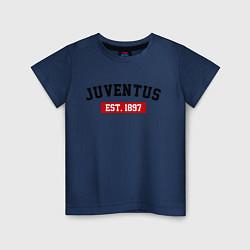 Футболка хлопковая детская FC Juventus Est. 1897 цвета тёмно-синий — фото 1
